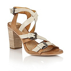 Ravel - Tan/off white 'Bunnell' ladies heeled sandals