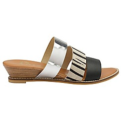 Ravel - Zebra 'Rockwall' slip on strappy sandals