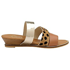 Ravel - Leopard 'Rockwall' slip on strappy sandals