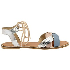 Ravel - Pink 'Navarro' ladies ankle strap peep toe sandals