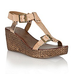 Ravel - Nude/rose gold 'Hibbing' ladies wedge sandals