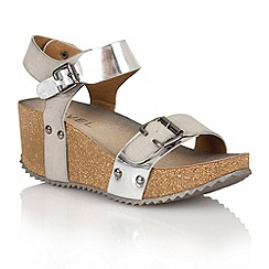 Ravel - Silver 'Tennessee' ladies wedge sandals
