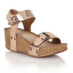 Ravel - Rose gold 'Tennessee' ladies wedge sandals