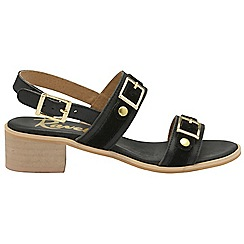 Ravel - Black 'Sherma' ladies ankle strap sandals