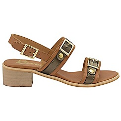 Ravel - Brown 'Sherma' ladies ankle strap sandals