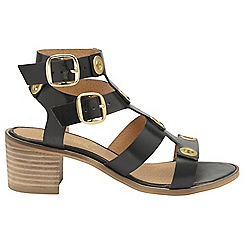 Ravel - Black 'Atlanta' ladies strappy open toe sandals