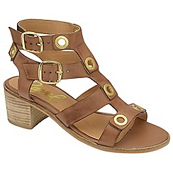 Ravel - Tan 'Atlanta' ladies strappy open toe sandals