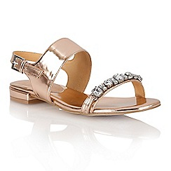 Ravel - Rose gold 'Palmdale' sling-back ladies sandals