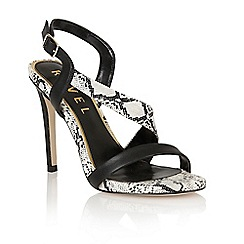 Ravel - Black/snake 'Tampa' ladies heeled sandals