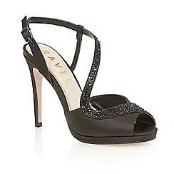 Ravel - Black satin 'Fulton' heeled sandals