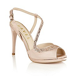 Ravel - Champagne satin 'Fulton' heeled sandals