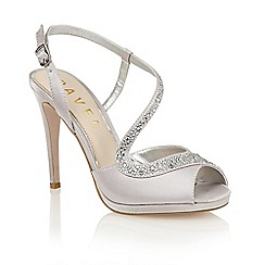 Ravel - Silver satin 'Fulton' heeled sandals