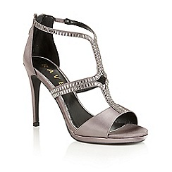 Ravel - Grey satin 'Mercer' heeled sandals