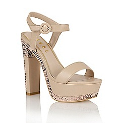 Ravel - Nude/snake 'Sacramento' heeled sandals