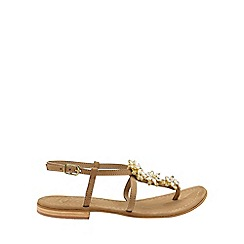 Ravel - Nude 'Eastman' ladies ankle strap sandals
