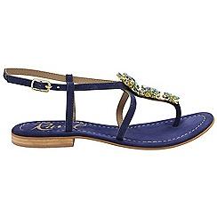 Ravel - Dark blue 'Eastman' ladies ankle strap sandals