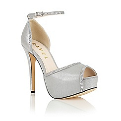 Ravel - Silver 'Charleston' ankle strap court shoes
