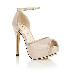 Ravel - Gold 'Charleston' ankle strap court shoes