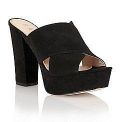 Ravel - Black 'Toledo' peep-toe heeled sandals