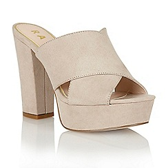 Ravel - Nude 'Toledo' peep-toe heeled sandals
