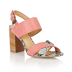 Ravel - Pink/snake 'Tucson' ladies heeled sandals