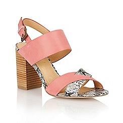 Ravel - Pink/snake 'Tucson' ladies heeled sandals