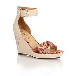 Ravel - Nude/snake 'Texas' ladies wedge sandals