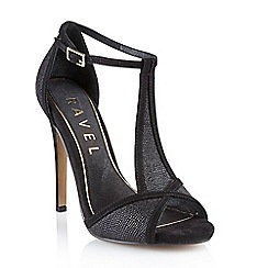 Ravel - Black 'Wisconsin' ladies heeled sandals