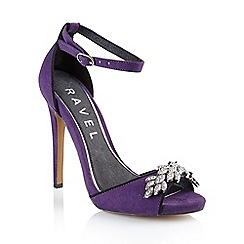 Ravel - Purple 'Virginia' ladies stiletto heeled sandals