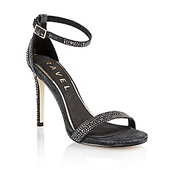Ravel - Black 'Kansas city' ladies stilleto heeled sandals