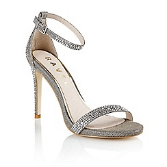 Ravel - Pewter 'Kansas city' ladies stilleto heel sandals