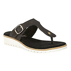 Ravel - Black 'Stowe' slip on toe post sandals