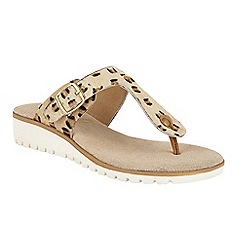Ravel - Leopard Print 'Stowe' slip on toe post sandals