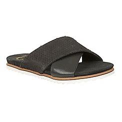 Ravel - Black 'Westford' slip on open toe sandals