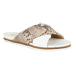 Ravel - White/Nude 'Westford' slip on open toe sandals