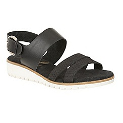Ravel - Black 'Norwell' slip on strappy buckle sandals