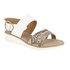 Ravel - White 'Norwell' slip on strappy buckle sandals