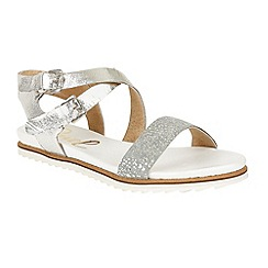 Ravel - Silver 'Torrington' ankle strap slip on sandals