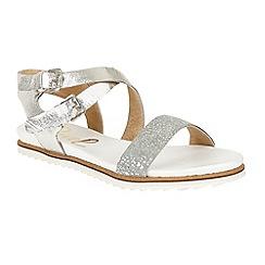 Ravel - Silver 'Torrington' ankle strap slip on sandals