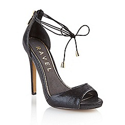 Ravel - Black 'Milwaukee' ladies stiletto heel sandals