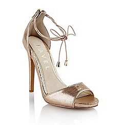 Ravel - Gold 'Milwaukee' ladies stilleto heel sandals