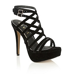 Ravel - Black velvet 'Archer' heeled pumps