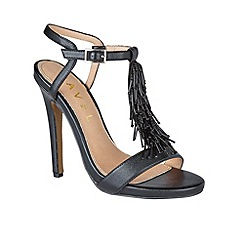 Ravel - Black 'Cleveland' T-bar stiletto heeled sandals