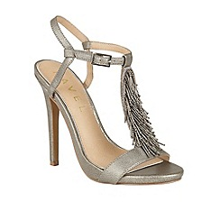 Ravel - Pewter 'Cleveland' T-bar stiletto heeled sandals