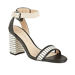 Ravel - Black 'Fairfax' block heeled open toe sandals