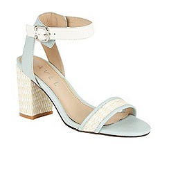 Ravel - Blue 'Fairfax' block heeled open toe sandals