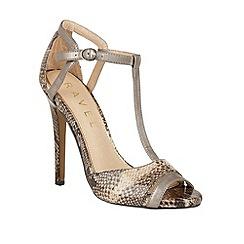 Ravel - Black 'Mobile' T-bar stiletto heeled sandals