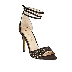 Ravel - Black/Gold 'Monterey' stiletto heeled sandals