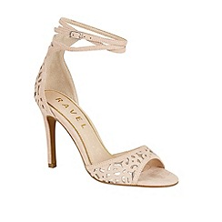 Ravel - Nude/Silver 'Monterey' stiletto heeled sandals