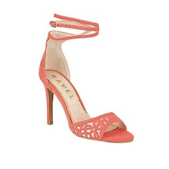 Ravel - Coral/Rose 'Monterey' stiletto heeled sandals
